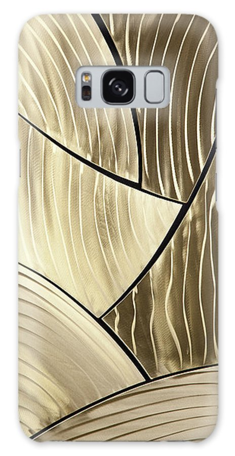 Abstract Galaxy S8 Case featuring the sculpture Broken Gold by Rick Roth