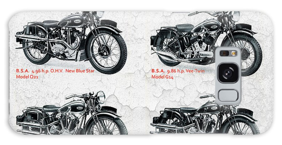 Bsa Motorcycle Galaxy S8 Case featuring the photograph Bsa Motor Cycles For 1936 by Mark Rogan