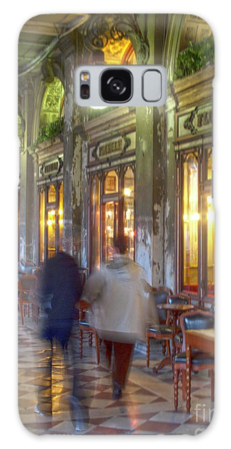 Venice Galaxy S8 Case featuring the photograph Caffe Florian Arcade by Heiko Koehrer-Wagner
