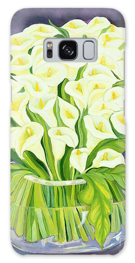 Flowers Galaxy S8 Case featuring the painting Calla Lilies by Laila Shawa