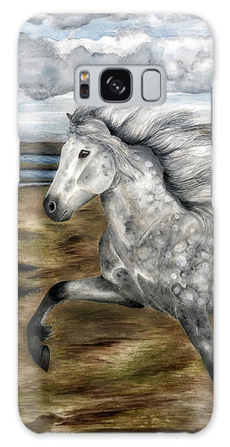 Icelandic Horse Galaxy S8 Case featuring the painting Charismatic Icelandic Horse by Shari Nees
