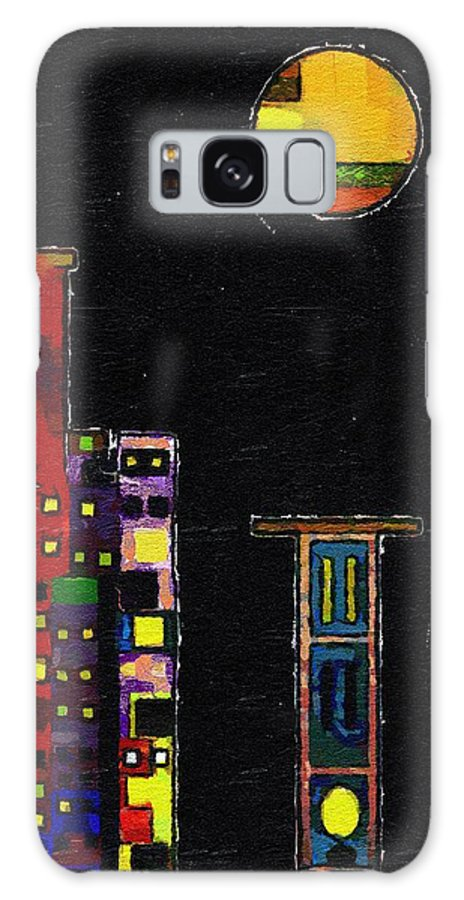 City Galaxy S8 Case featuring the painting Chinatown by RC DeWinter