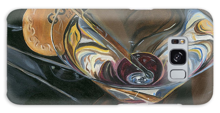 Martini Galaxy S8 Case featuring the painting Chocolate Martini by Debbie DeWitt