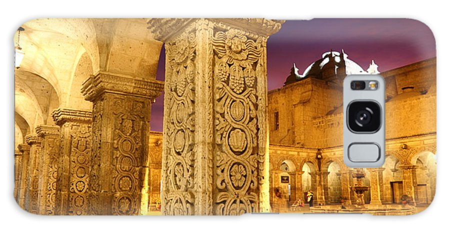 Peru Galaxy S8 Case featuring the photograph Cloisters At Sunset Arequipa by James Brunker