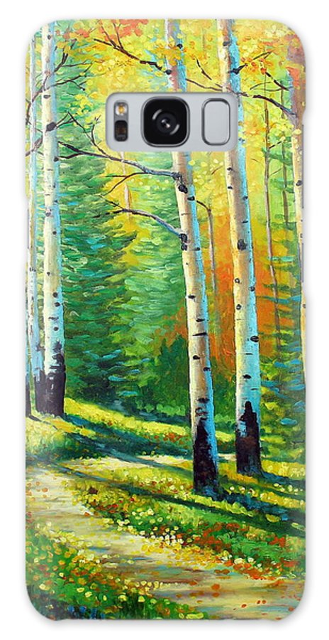 Landscape Galaxy Case featuring the painting Colors Of The Season by David G Paul