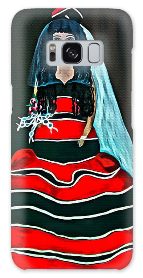 Bride Galaxy S8 Case featuring the painting Cordillera Bride by Joel Panida