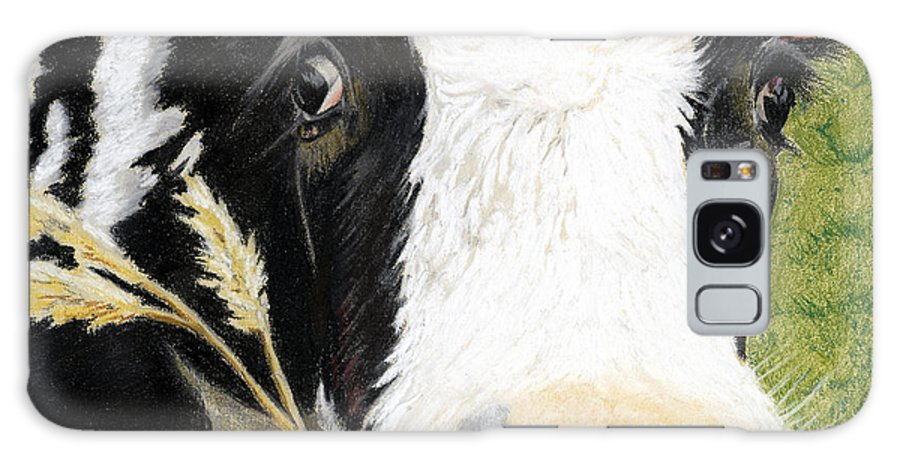 Kitchen Galaxy S8 Case featuring the painting Cow No. 0652 by Carol McCarty