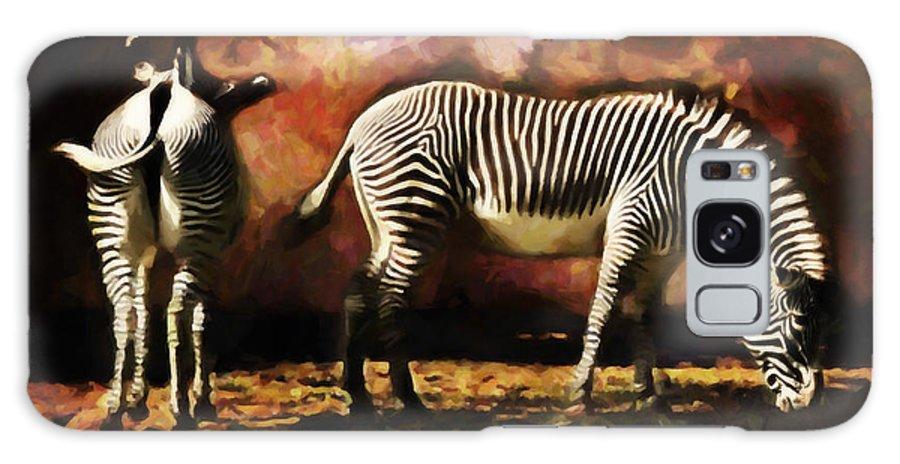 Zebra Galaxy S8 Case featuring the digital art Creation Zebra by Diane Dugas