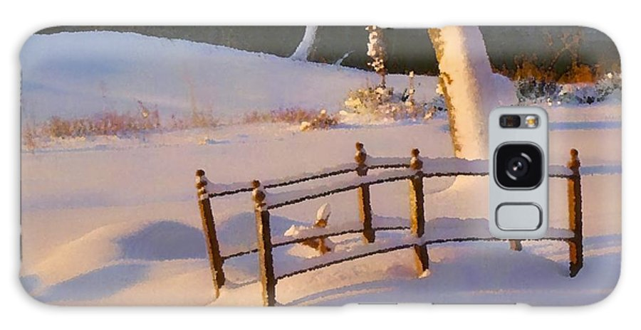 Snow Galaxy S8 Case featuring the photograph Dawn On The Niangua by Larry Bodinson
