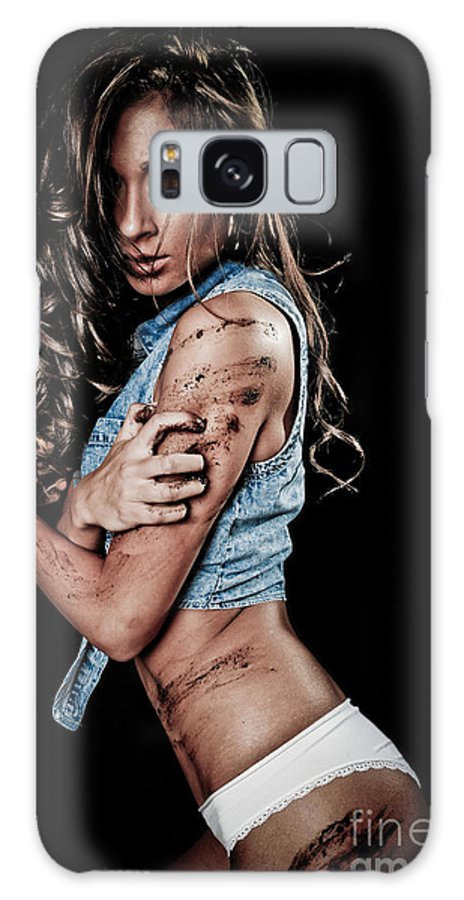 Adult Galaxy S8 Case featuring the photograph Dirty Girl by Jt PhotoDesign