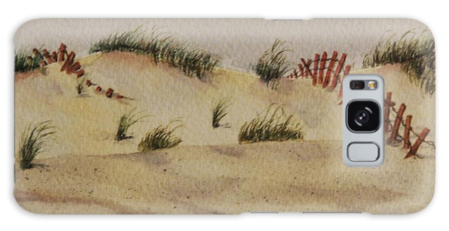 Sand Galaxy S8 Case featuring the painting Dunes by Mary Ellen Mueller Legault