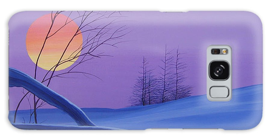 Mountains Galaxy Case featuring the painting Silent Snow by Hunter Jay