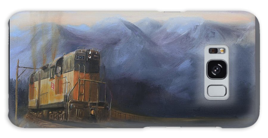Train Galaxy S8 Case featuring the painting East Of The Belt Range by Christopher Jenkins