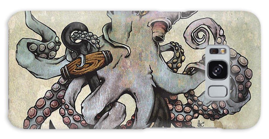 Octopus Galaxy S8 Case featuring the digital art Eight by Kc Cowan