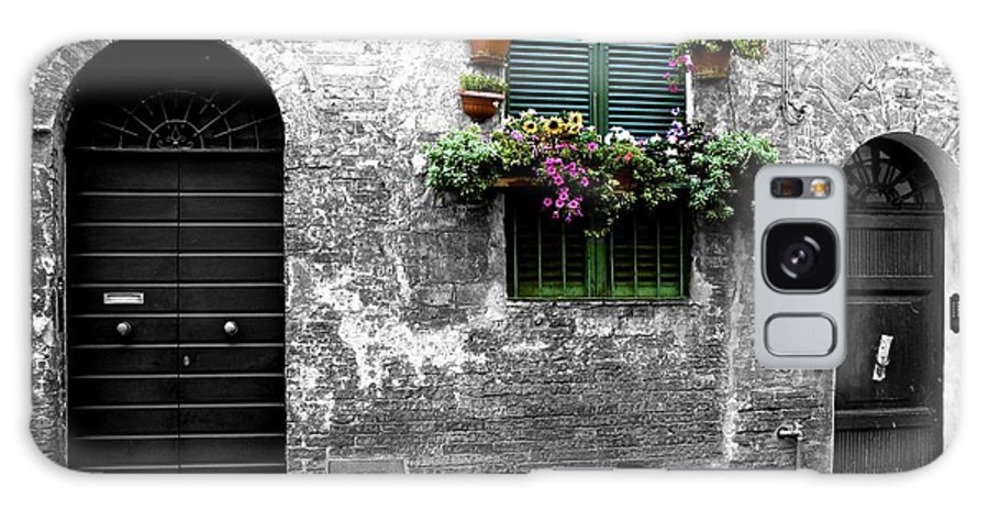 Italian Alleyways Galaxy S8 Case featuring the photograph Flower Shoppe by Don Kenworthy