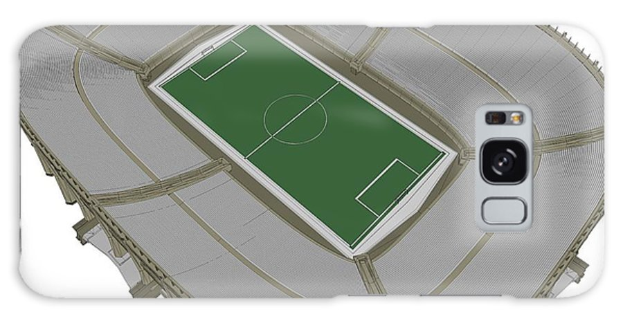 Stadium Galaxy S8 Case featuring the digital art Football Soccer Stadium by Nenad Cerovic