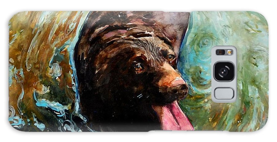 Chocolate Labrador Retriever Galaxy S8 Case featuring the painting Fudge Ripple by Molly Poole