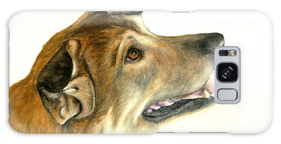 German Shepherd Dogs Galaxy Case featuring the painting German Shepherd Dog by Nan Wright