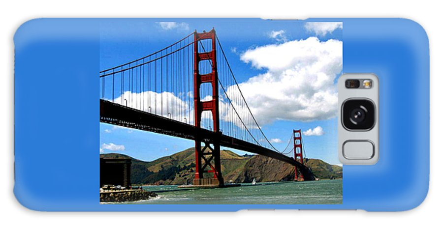 Golden Gate Galaxy S8 Case featuring the photograph Golden Gate Bridge by Jay Milo