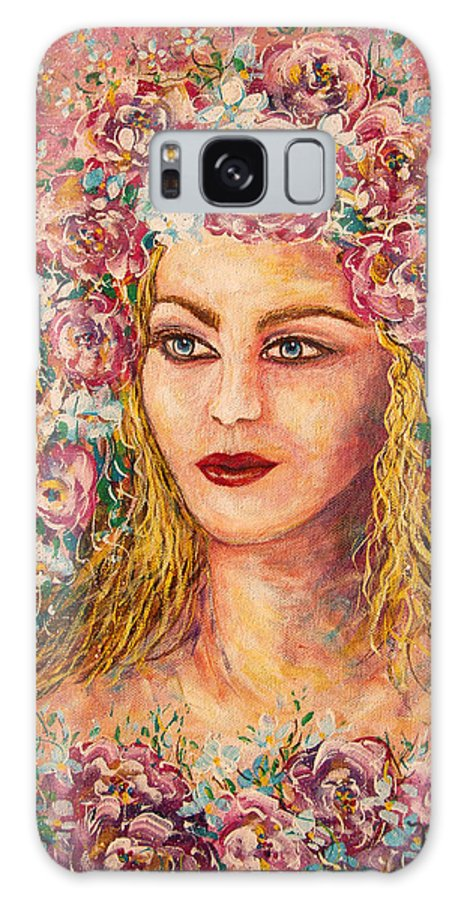 Goddess Galaxy Case featuring the painting Good Fortune Goddess by Natalie Holland