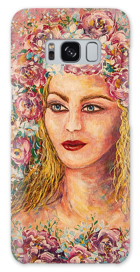 Goddess Galaxy S8 Case featuring the painting Good Fortune Goddess by Natalie Holland