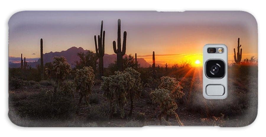 Sunrise Galaxy S8 Case featuring the photograph Good Morning Arizona by Saija Lehtonen
