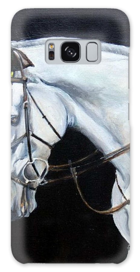 Horse Galaxy S8 Case featuring the painting Grand Prix by Adele Pfenninger