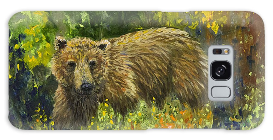 Bear Galaxy S8 Case featuring the painting Grizzly Study 2 by Dee Carpenter