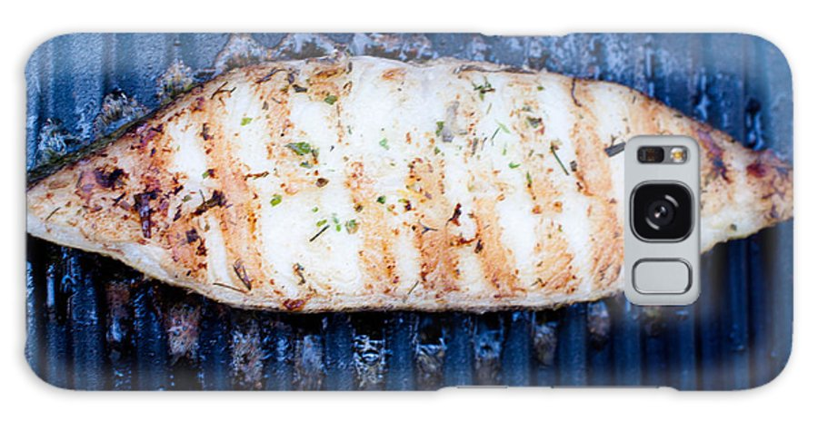 Halibut Galaxy S8 Case featuring the photograph Halibut Fillet On Bbq by Frank Gaertner