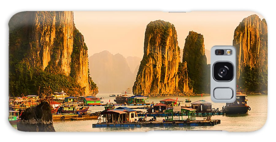 Asia Galaxy S8 Case featuring the photograph Halong Bay - Vietnam by Luciano Mortula