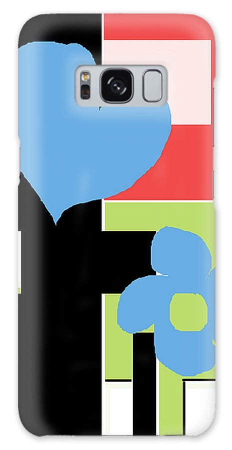 Abstract Art Galaxy S8 Case featuring the digital art Happiness by Delio Paradise