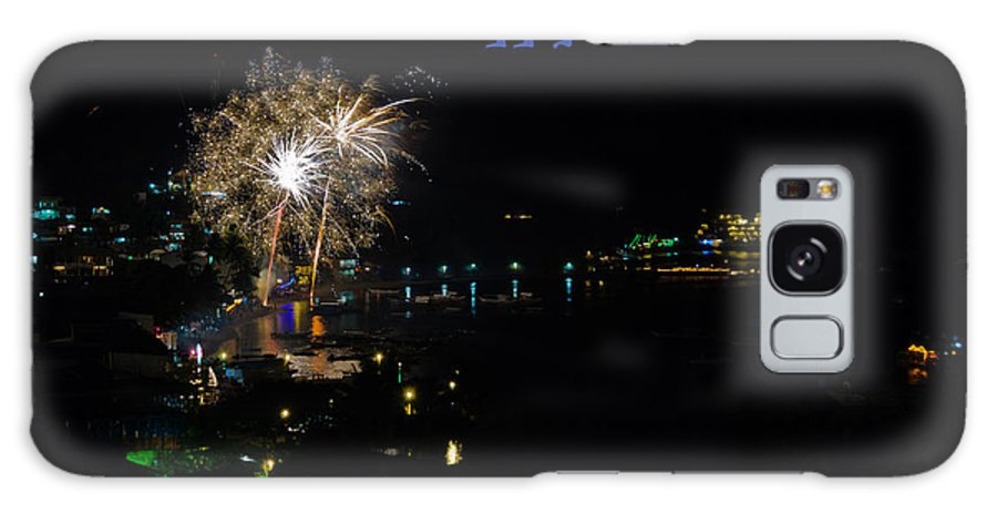 Asia Galaxy S8 Case featuring the photograph Happy New Year Greeting Card - Fireworks Display by Colin Utz