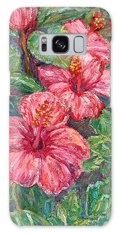 Hibiscus Galaxy Case featuring the painting Hibiscus by Kendall Kessler