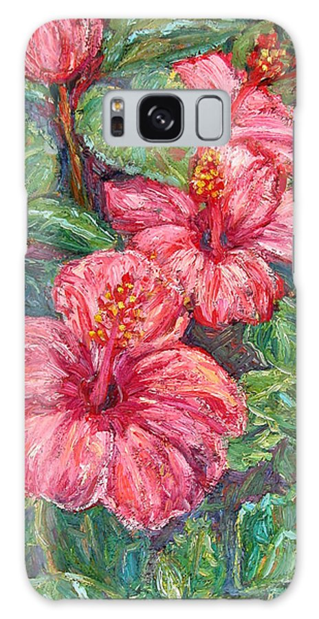 Hibiscus Galaxy S8 Case featuring the painting Hibiscus by Kendall Kessler