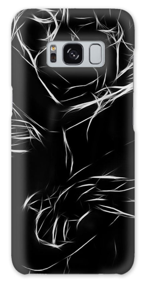Couple Lover Lovers Arms Woman Man Female Male Nude Naked Black White Abstract Expressionism Erotic Galaxy S8 Case featuring the painting In Your Arms by Steve K