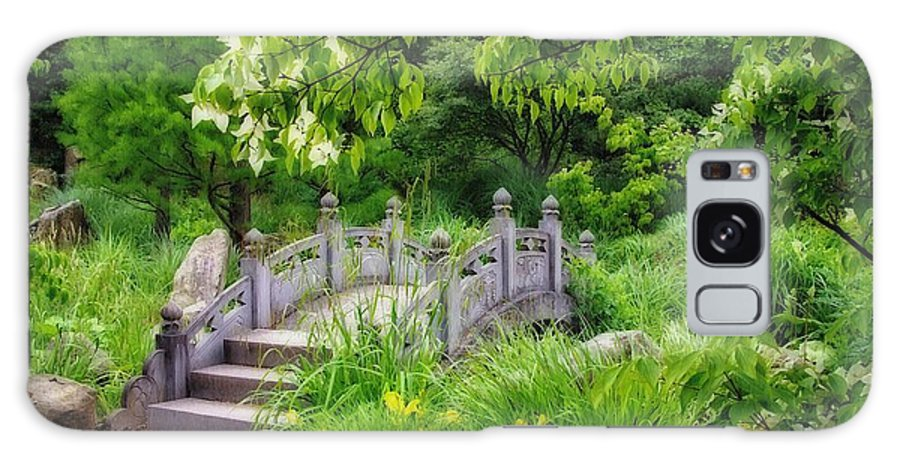 Bridge Galaxy S8 Case featuring the photograph Japanese Garden by Gabi Siebenhuehner
