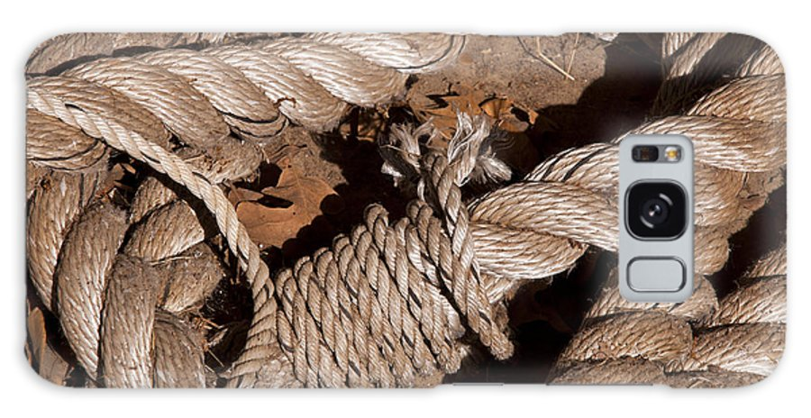 Schulenburg Texas Rope Ropes Knot Knots Texture Odds And Ends Galaxy S8 Case featuring the photograph Knotted by Bob Phillips