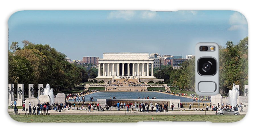 Lincoln Memorial Galaxy S8 Case featuring the photograph Lincoln Memorial by Rachel Sanderoff