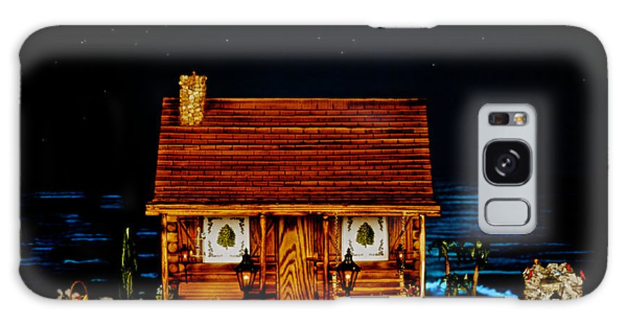 Miniature Log Cabin Galaxy S8 Case featuring the photograph Log Cabin Scene With The Classic 1959 Dodge Royle Convertible In Color by Leslie Crotty