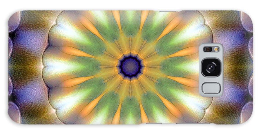 Tibetan Art Galaxy S8 Case featuring the digital art Mandala 105 by Terry Reynoldson