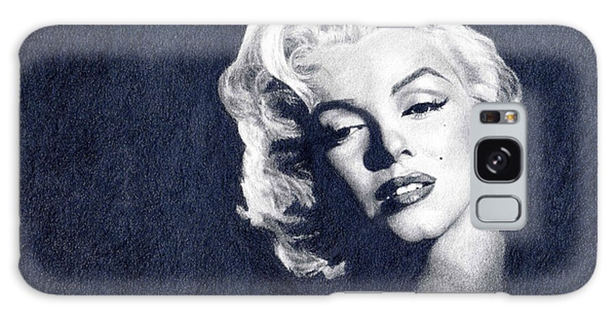 Marilyn Monroe Galaxy Case featuring the drawing Marilyn Monroe by Erin Mathis