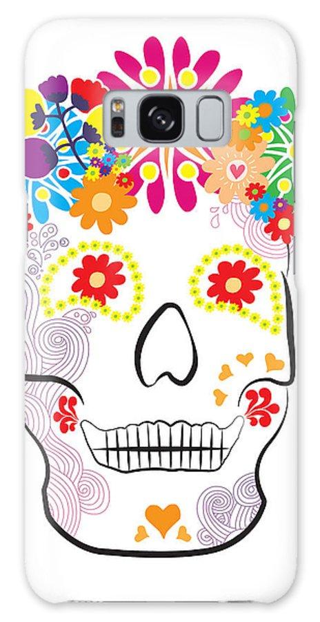 Mexico Galaxy S8 Case featuring the digital art Mexican Sugar Skull For Dia De Los Muertos by MX Designs