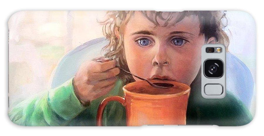 Portrait Galaxy S8 Case featuring the painting Mocha Latte by Susan Bradbury