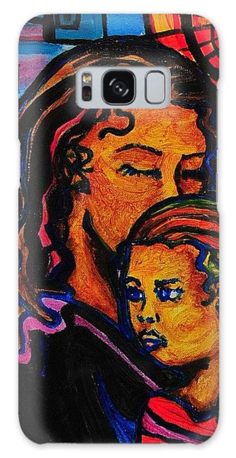 Mother And Child Galaxy S8 Case featuring the painting Mommy And Me by Arianne Lequay