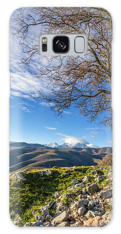 Balagne Galaxy S8 Case featuring the photograph Monte Cinto From Col De San Colombano In Corsica by Jon Ingall
