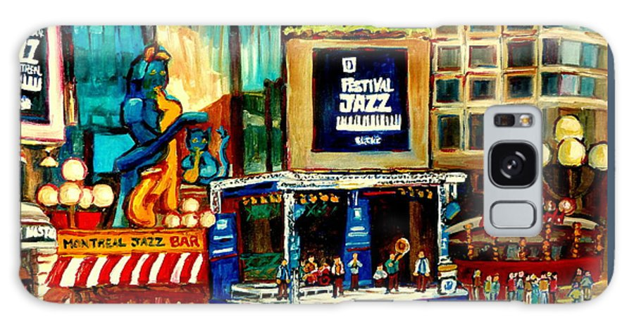 Montreal International Jazz Festival Galaxy S8 Case featuring the painting Montreal International Jazz Festival by Carole Spandau