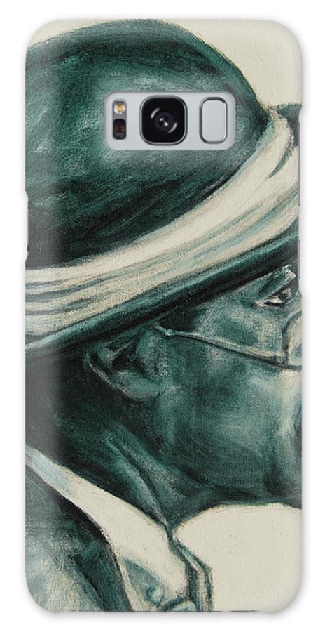 Black Galaxy S8 Case featuring the painting Mr Bowler Mustache by Xueling Zou