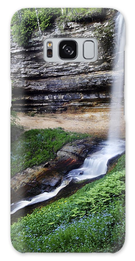3scape Galaxy S8 Case featuring the photograph Munising Falls by Adam Romanowicz