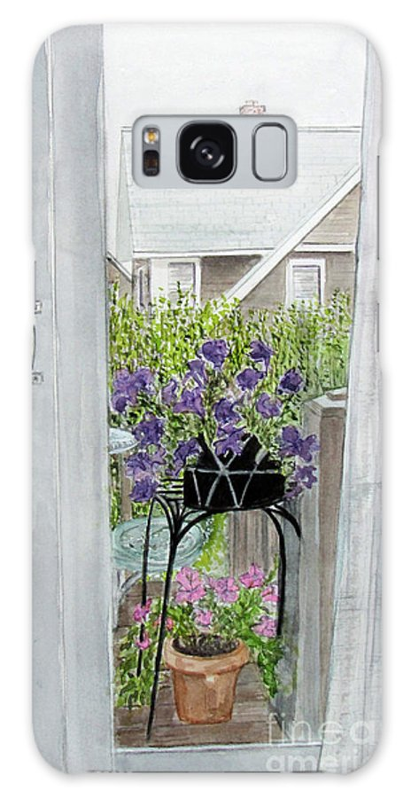 Nantucket Galaxy S8 Case featuring the painting Nantucket Room View by Carol Flagg