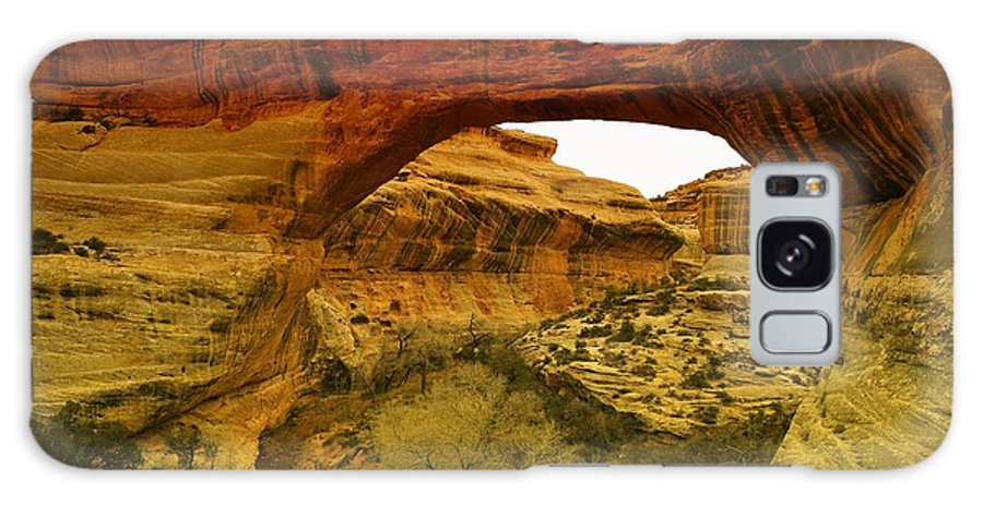 Utah Galaxy S8 Case featuring the photograph Natural Bridge by Jeff Swan